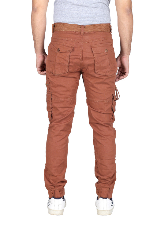 Mens 6 Pocket Plain Cargo Pants