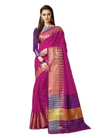 Jacquard Cotton Silk Saree