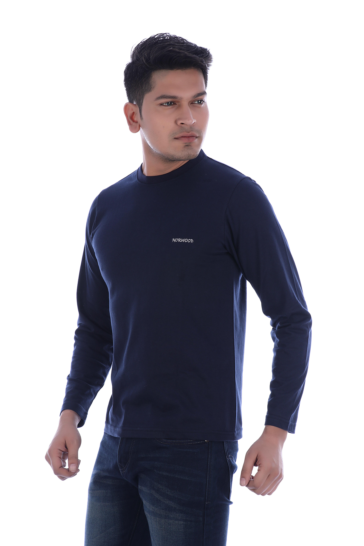 NORWOOD Men's Round Neck Full-sleeve T-shirt