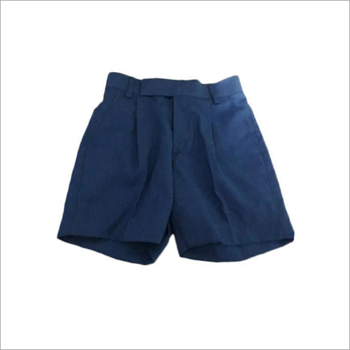 Mens Blue Cotton Shorts