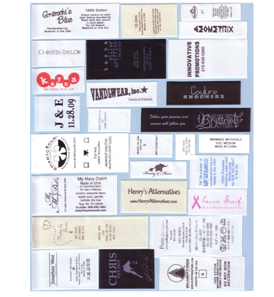 Taffete Printed Labels