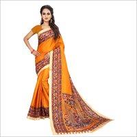 Fancy Kalamkari Design Bhagalpuri Saree