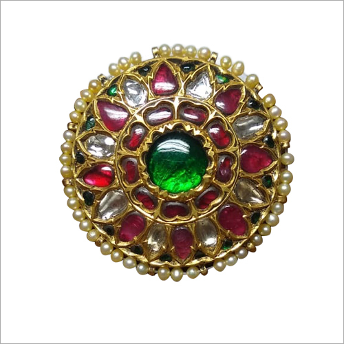 Kundan Stone Studded Meena Ear Tops