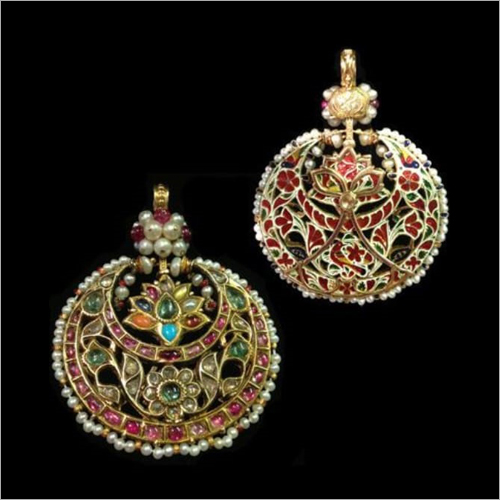 Kundan Meena Designer Earrings Set