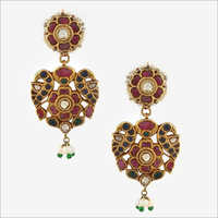 Kundan Stone Studded Earrings Set