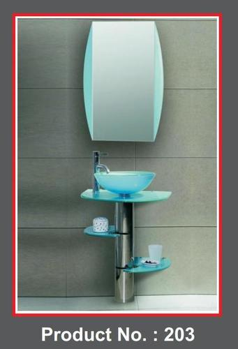 Glass vanity