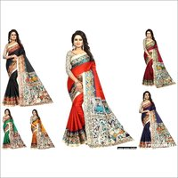Women Fancy  Kalamkari Design Bhagalpuri Saree