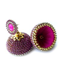 Fashion Silk Thread Stone Earrings