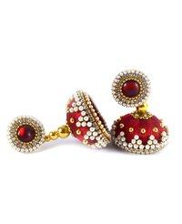 Fashion Design Beaded Silk Thread Earrings