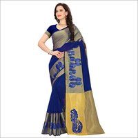 Fancy Embroidery Cotton Silk Sarees