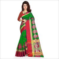 Cotton Jacquard Silk Saree
