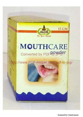 Mouth care powder