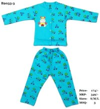 Boys Night Suit with front open