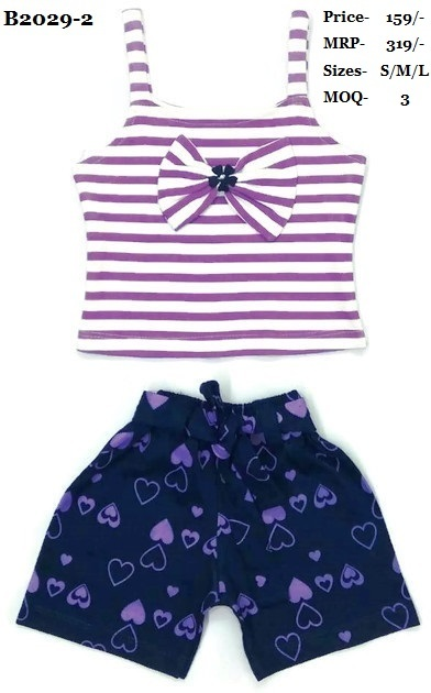 Girls Tops with Hot pant