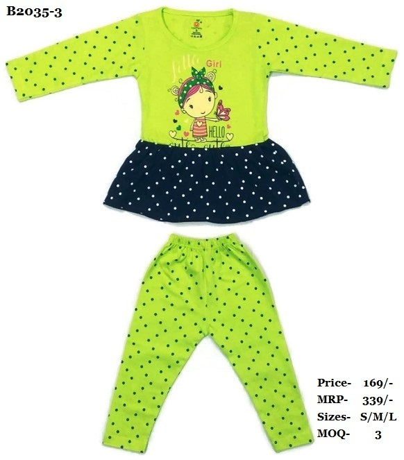 Girls Frock with full pant