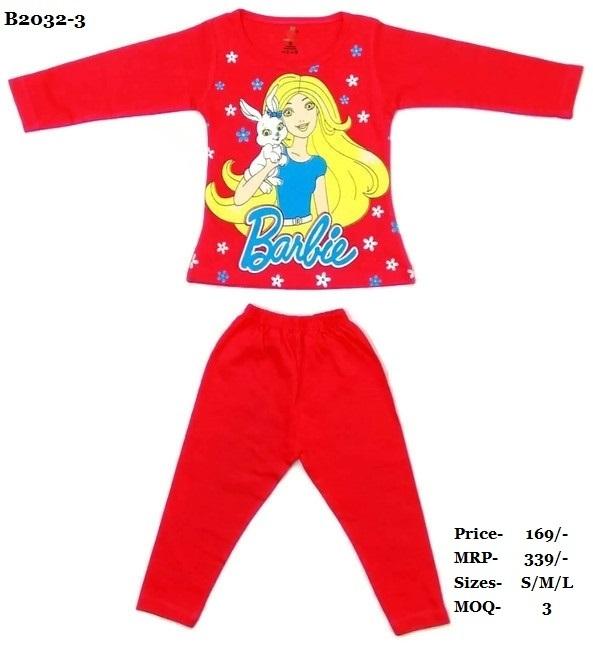 Barbiee printed Top & Full Pant