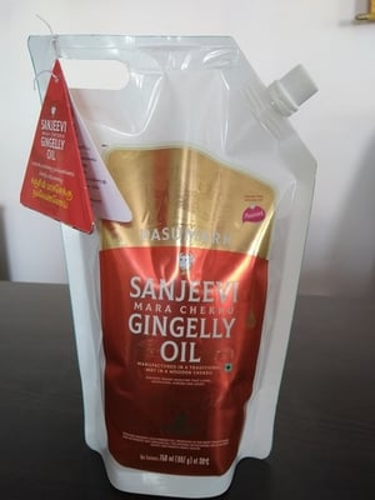 SANJEEVI Cold Pressed Sesame Oil (Mara Chekku Oil) 750ml Stand Up Pouch