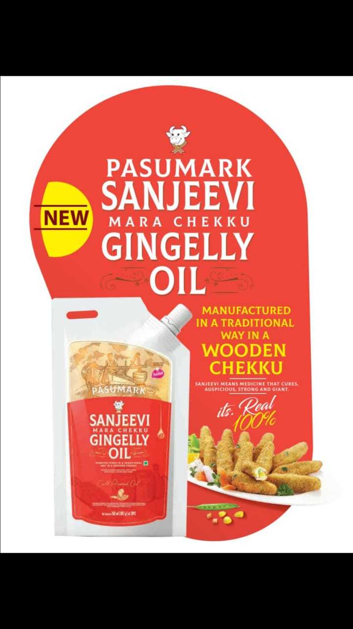 SANJEEVI Cold Pressed Sesame Oil (Mara Chekku Oil) 750ml Stand Up Pouch