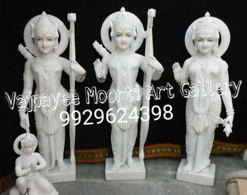 Makrana Marble Ram Darbar Famity Statue