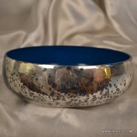 GLASS SILVER BLUE COLOR BOWL