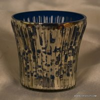 SILVER GLASS VOTIVE