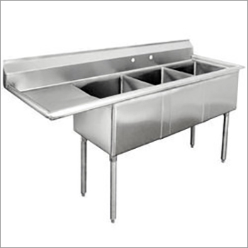 SS Three Sink Table