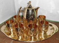 Antique Brass Lemon Set Pack Of 6 Glasses