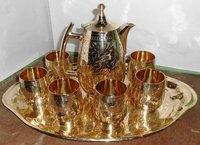 Antique Brass Lemon Set Pack of 6 Glasses
