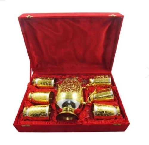 Golden Lemon Set with Red Velvet Box