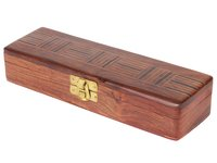 Craft Art India Beautifully Carved Decorative Eclusive Wooden Pencil / Pen Storage Box