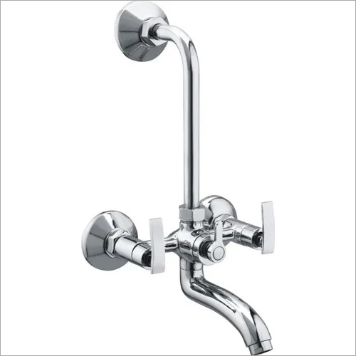 BRASS WALL MIXER WITH L BEND