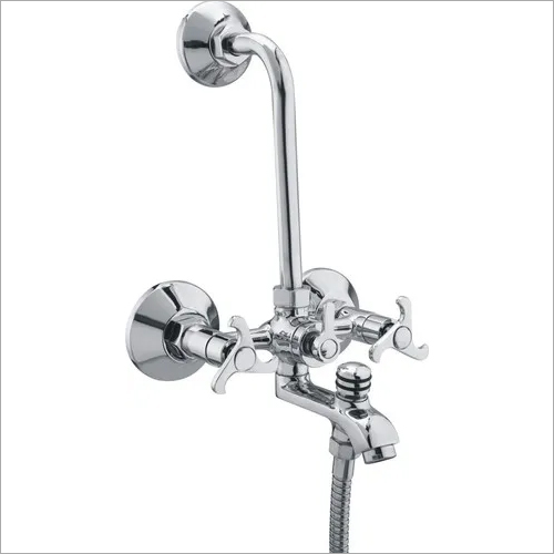 BATHROOM WALL MIXER 3 IN 1 WITH L BEND