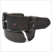 Mens Leather Black Belt