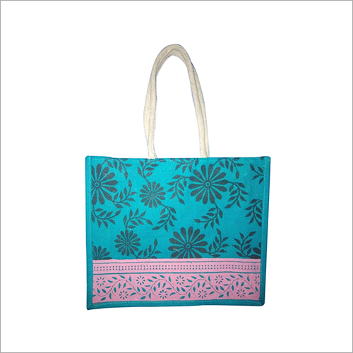 Jute Designer Printed Bag