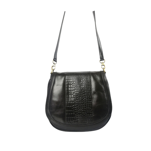 Women Leather Trendy Sling Bag