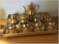 16 Pieces Gold Plated Tea Set For Home Decor