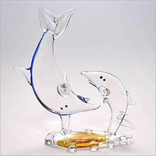 Glass Dolphin Fish Pair
