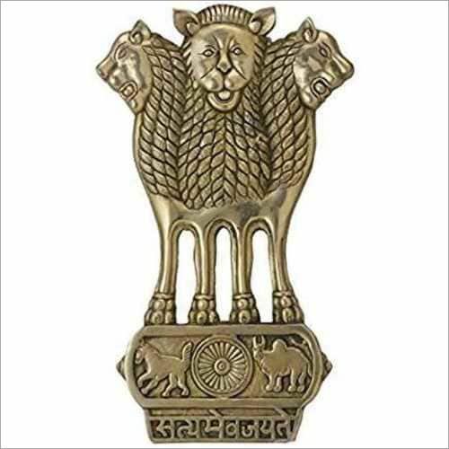 Brass Ashoka Stambha Statue