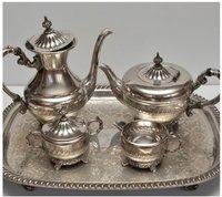 Beautiful Silver Plated Brass Coffee & Tea Set