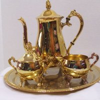 Beautiful Silver Plated Brass Coffee & Tea Set