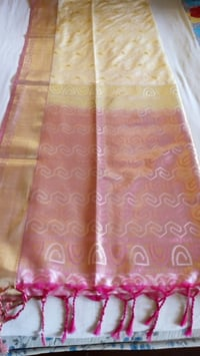 White Arni silk saree