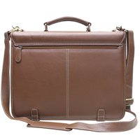 TRISHIKHA Men Leather Briefcase Office Executive Bag
