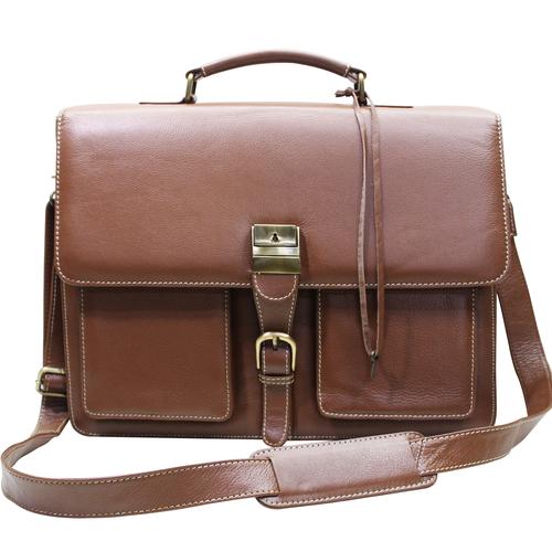 Men Leather Executive Briefcase Office Bag