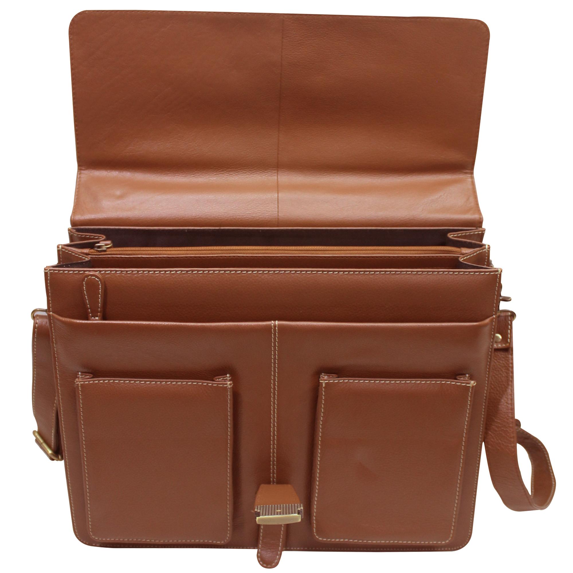 Men Leather Office Bag Briefcase