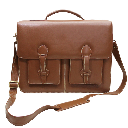 Men Leather Executive Office Bag Briefcase