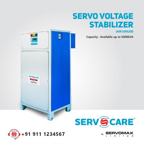 Digital three phase servo voltage stabilizer