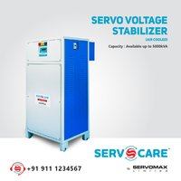 Digital three phase servo voltage stabilizer