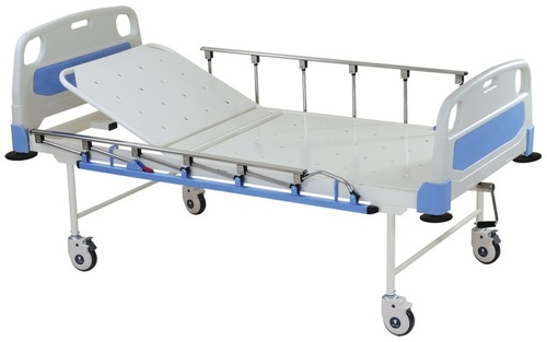Deluxe Semi Fowler Bed with Polymer Head and Footboard and Collapsible railing