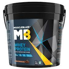 MuscleBlaze Whey Protein,4kg( 8.8 lb )Rich Milk Chocolate