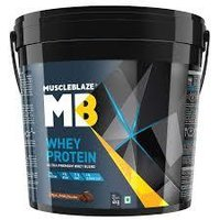 MuscleBlaze Whey Protein,4kg( 8.8 lb )Rich Milk Chocolate